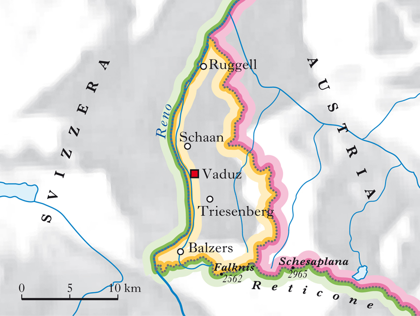 Cartina Liechtenstein