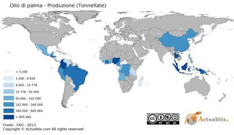 produzione olio di palma paesi
