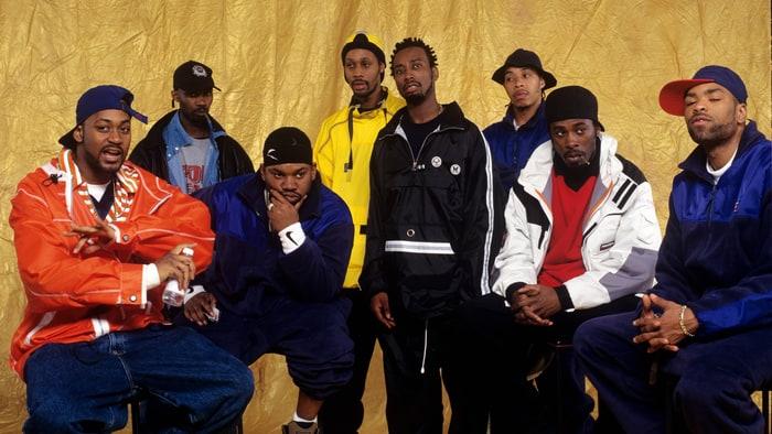 Ol' Dirty Bastard (quinto da sinistra) e i Wu-Tang Clan nel 1987