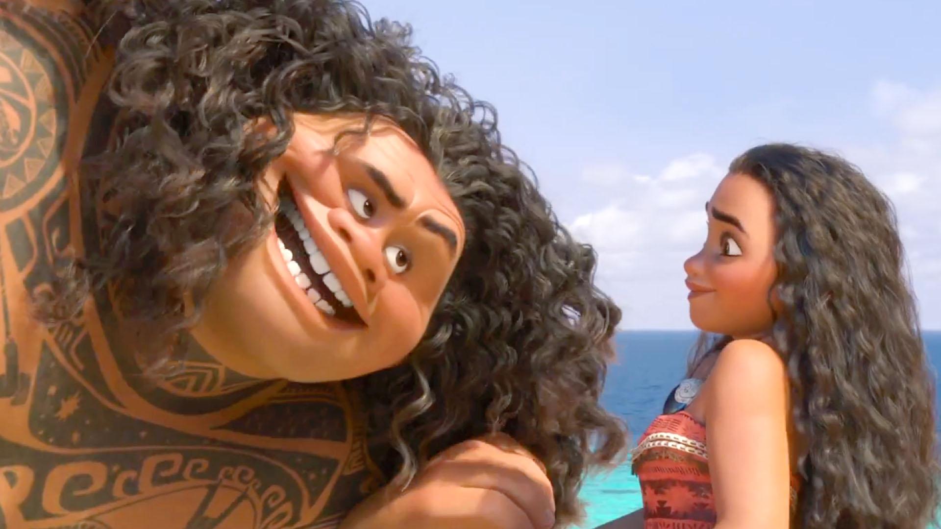 Oceania: i capelli di Moana e Maui