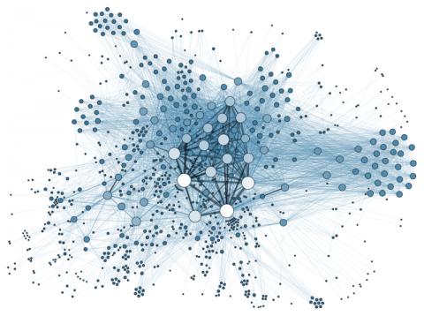 Rappresentazione grafica di una rete sociale.
