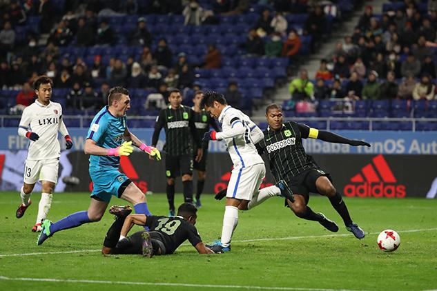 Il colpo di tacco di Yasushi Endo per il 2-0 momentaneo dei Kashima Antlers sull'Atletico Nacional de Medellìn