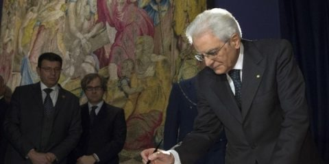Il Presidente della Repubblica Sergio Mattarella. No