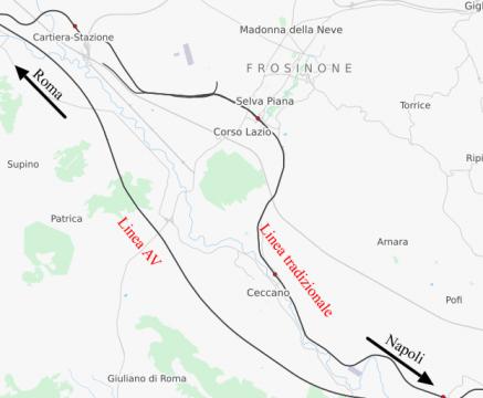 Linea AV e linea tradizionale