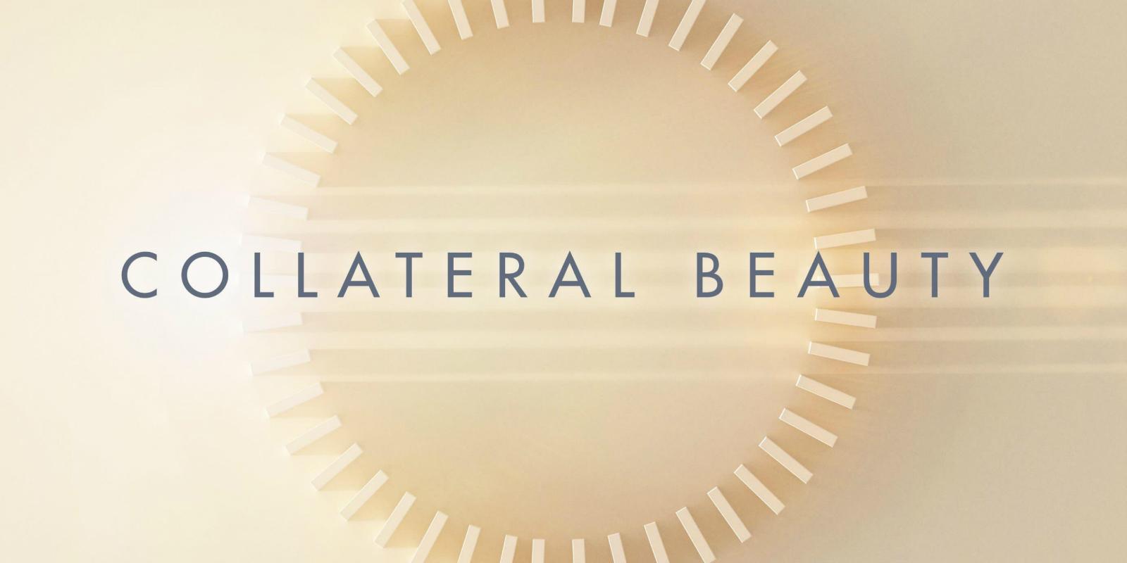 Immagine promozionale di Collateral Beauty, con le tessere del domino.