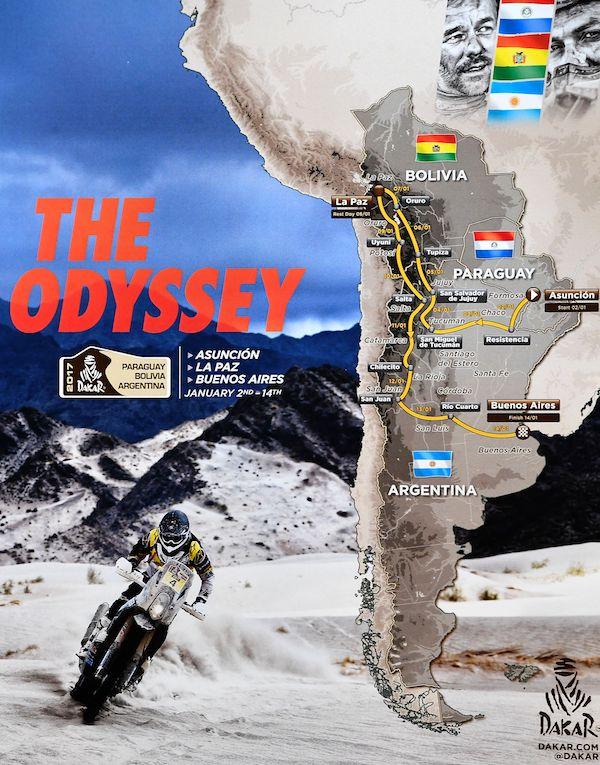 Il poster della Dakar 2017