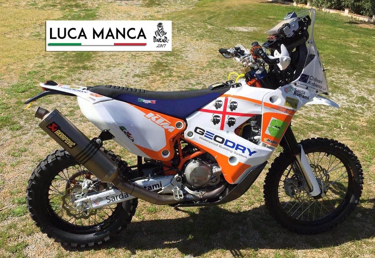 La KTM di Luca Manca per la Dakar 2017