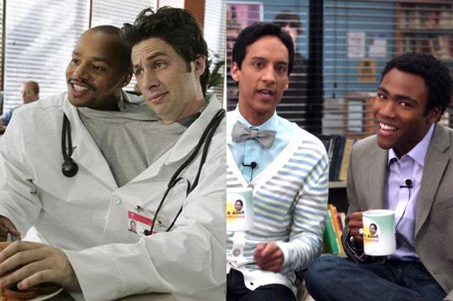 Turk e JD di scrubs, Abed e Troy di Community.