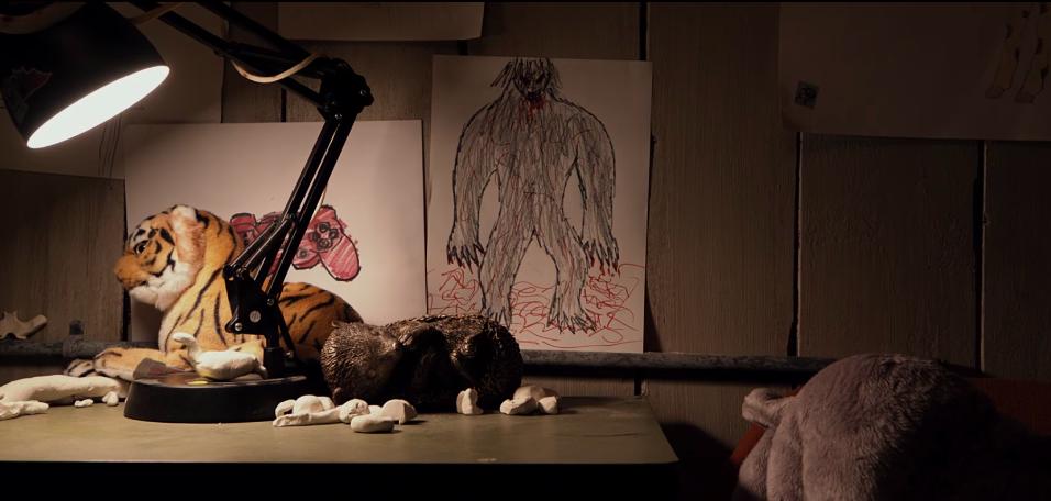 Il disegno della bestia in Split.
