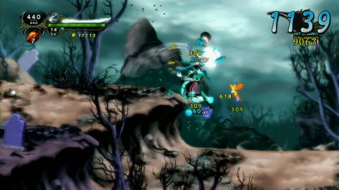 dust elysian tail chain metroidvania