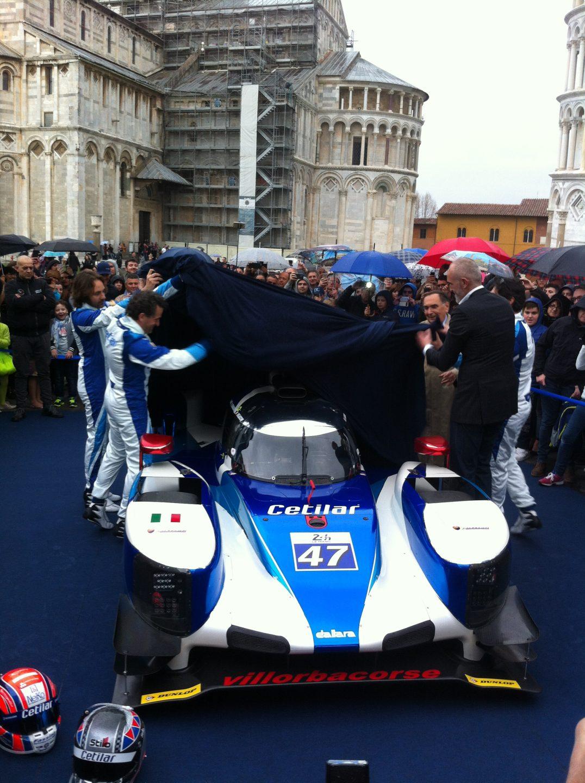 La P217 Dallara della Cetilar Villorba Corse mentre viene esposta al pubblico, foto: Giovanni Figoni