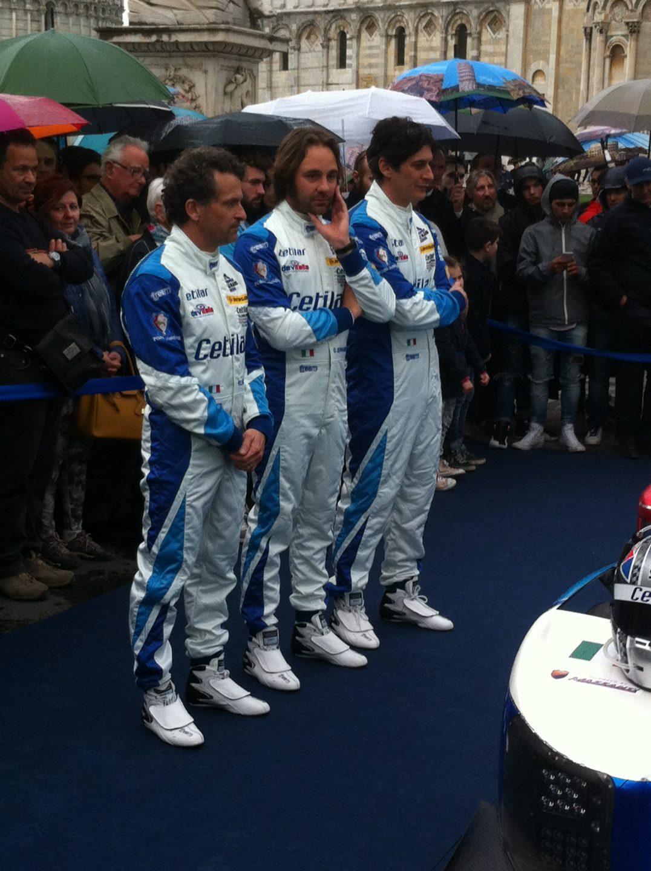 I tre piloti del team Cetilar Villorba che correranno alla 24 ore di Le Mans: Roberto Lacorte, Giorgio Sernagiotto e Andrea Belicchi, foto: Giovanni Figoni