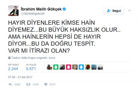 melih gokcek referendum turco